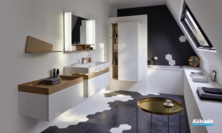 Meuble de salle de bains Terrace Blanc Brillant de Jacob Delafon
