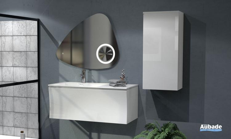 Meuble vasque largeur 100 Way finition blanc brillant par Lido