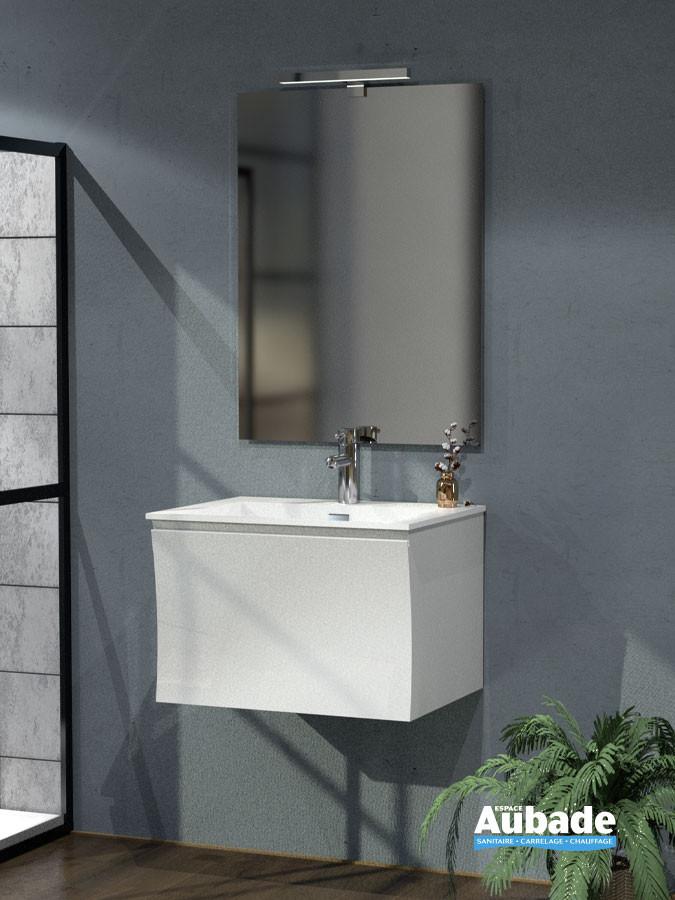 Meuble vasque largeur 60 Way coloris blanc brillant de la marque Lido