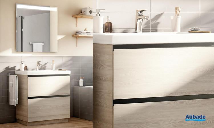 Meuble de salle de bains Lander frene nordic de Roca 2