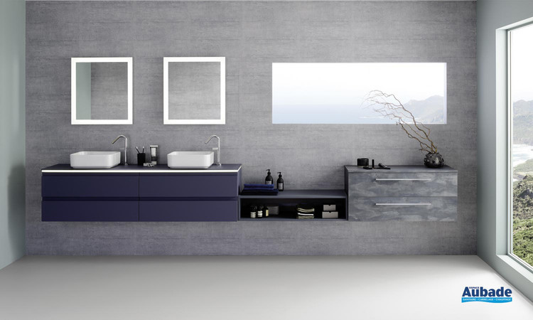Meuble de salle de bains Halo 180 cm Galaxy Soft de Sanijura 1