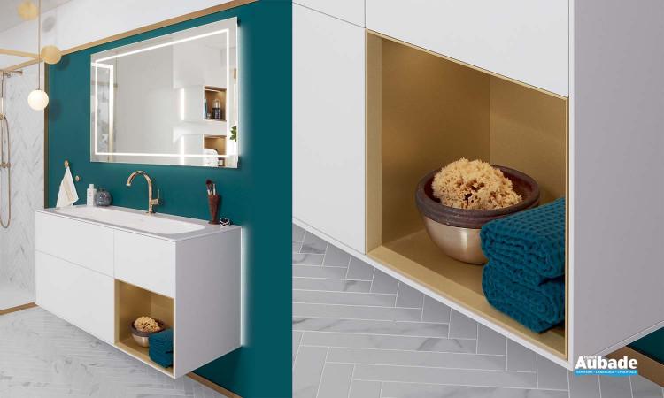 meuble salle de bains villeroy et boch finion blanc