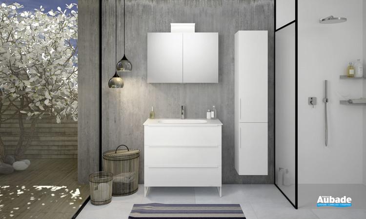 Meuble de salle de bains style 2 avec 3 niveaux par Burgbad