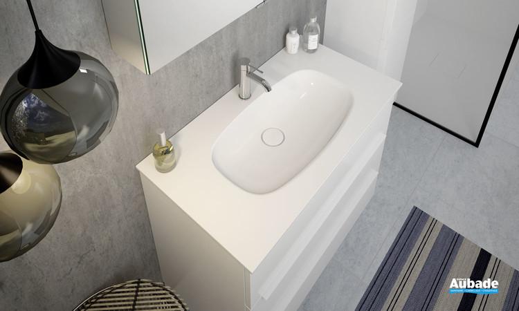 Plan vasque Style 2 en pierre de synthèse Rocksolid par Burgbad