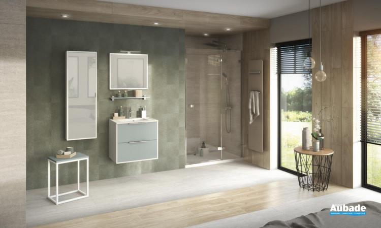 meubles delpha ultra cadra largeur 60 vert aloe blanc brillant ambiance