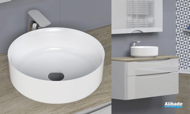 Vasque à poser Calie par Lido en solid surface blanc