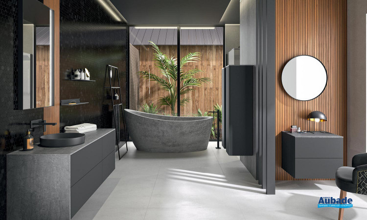 Meuble sous vasque design Iconik de Cedam