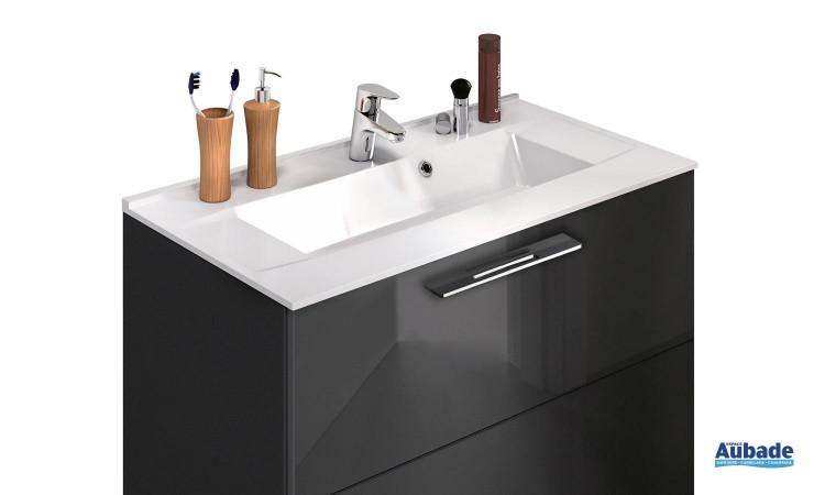 Meuble Graphic90 Delpha avec vasque moulé
