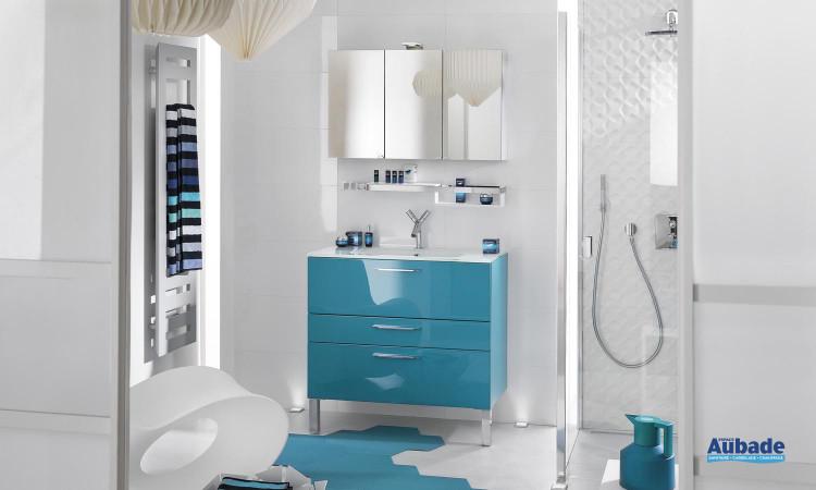 Meubles salle de bains bleu Delpha Unique 90 | Espace Aubade