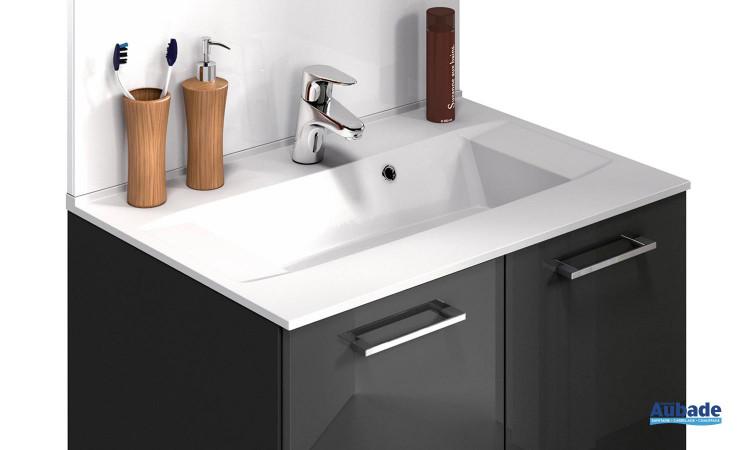 Plan avec 1 vasque pour meuble Promoule 70 cm Delpha