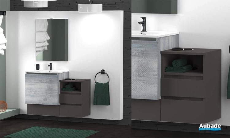 Meubles de salle de bains Modulo de Lido - Hong Kong Graphite