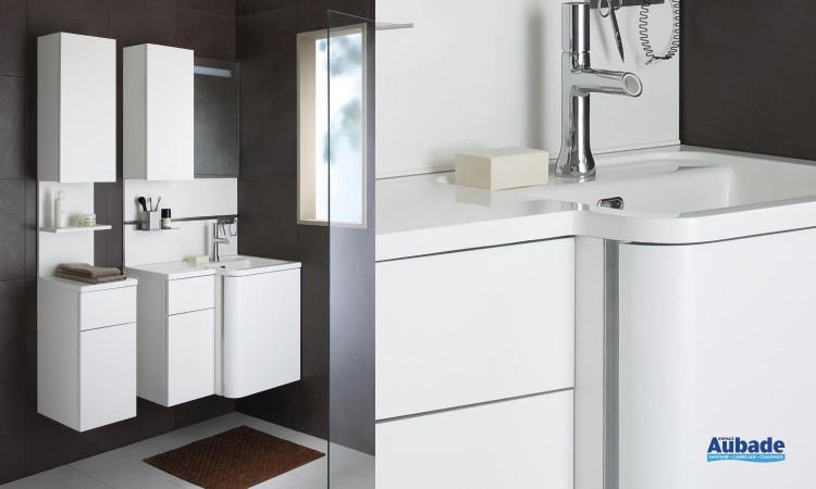 Vasque En Marbre De Synthese Blanc Brillant Bump Espace Aubade