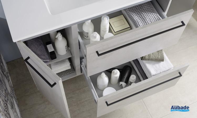 Intérieur du meuble 2 tiroirs et 1 porte Impact 2 de la marque sanijura