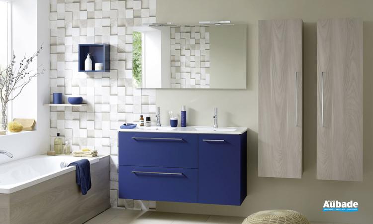 Meuble 2 tiroirs et 1 porte Impact 2 coloris bleu marine de Sanijura