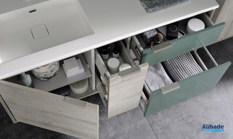 Intérieur du meuble sous-vasque Loggia de la marque Sanijura
