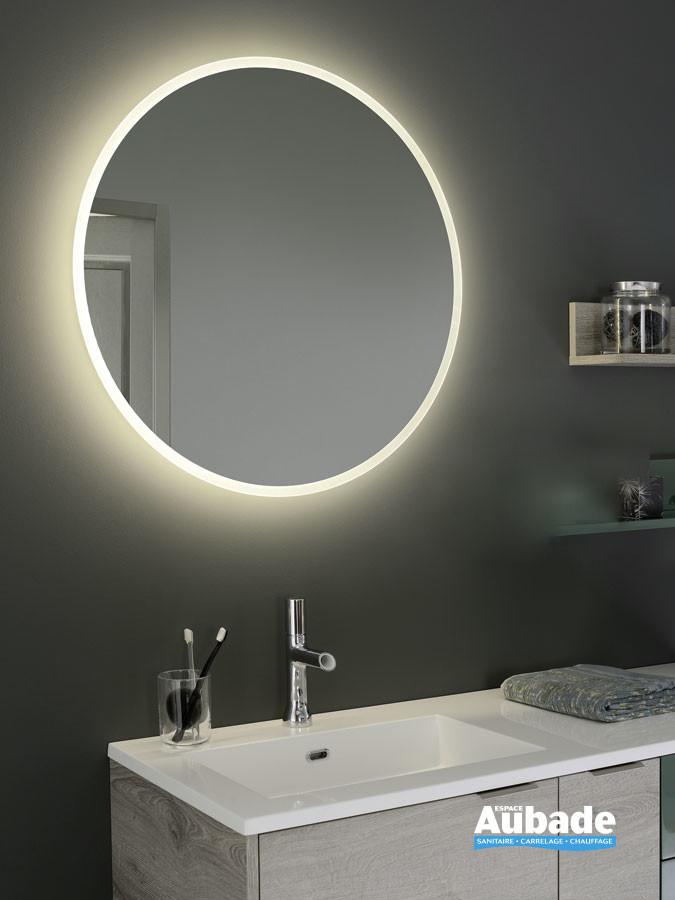 Miroir rond led rétro-éclairé du meuble Loggia de la marque Sanijura