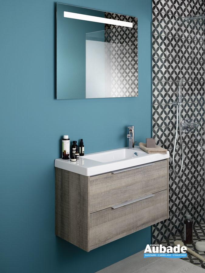 Meuble 2 tiroirs XS coloris chêne gris de la marque Sanijura