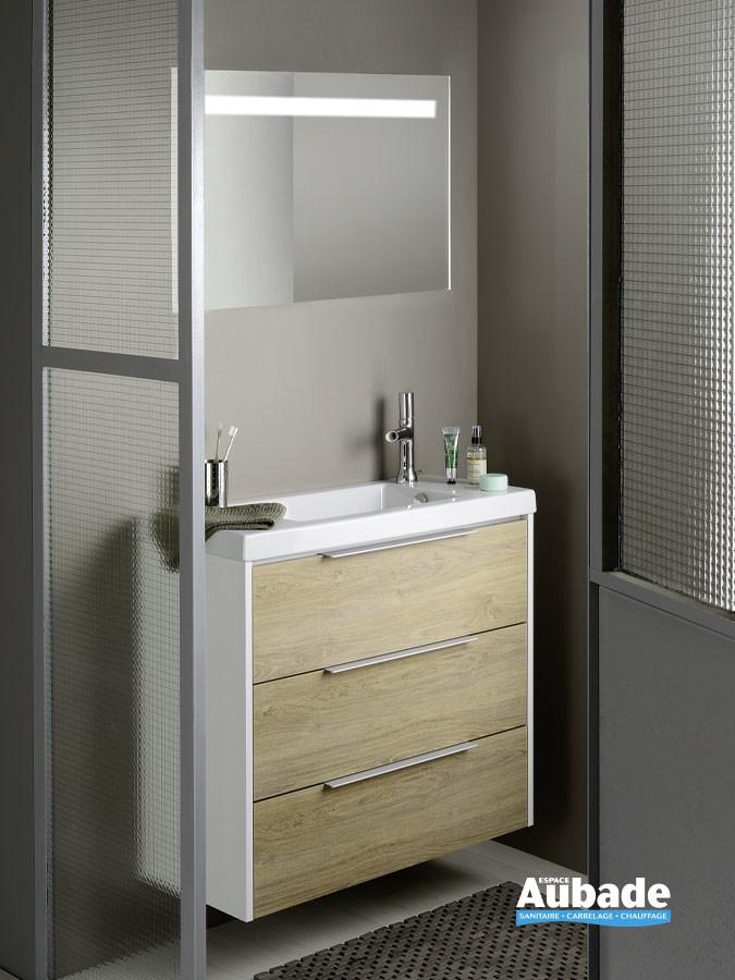 Meuble 3 tiroirs XS coloris blanc et chêne québec de la marque Sanijura