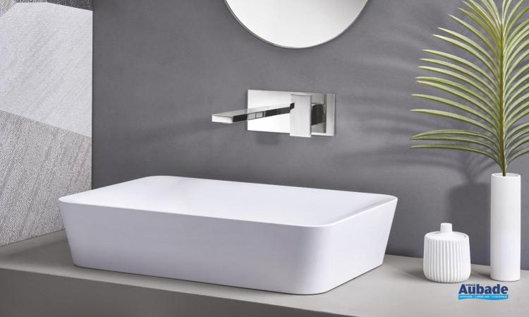 Mitigeur lavabo mural encastré Tabula de Cristina
