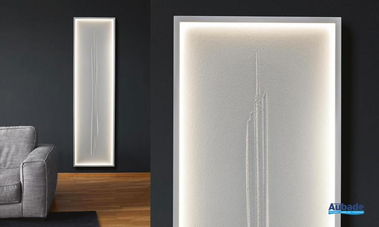 radiateur cinier roc zen led blanc