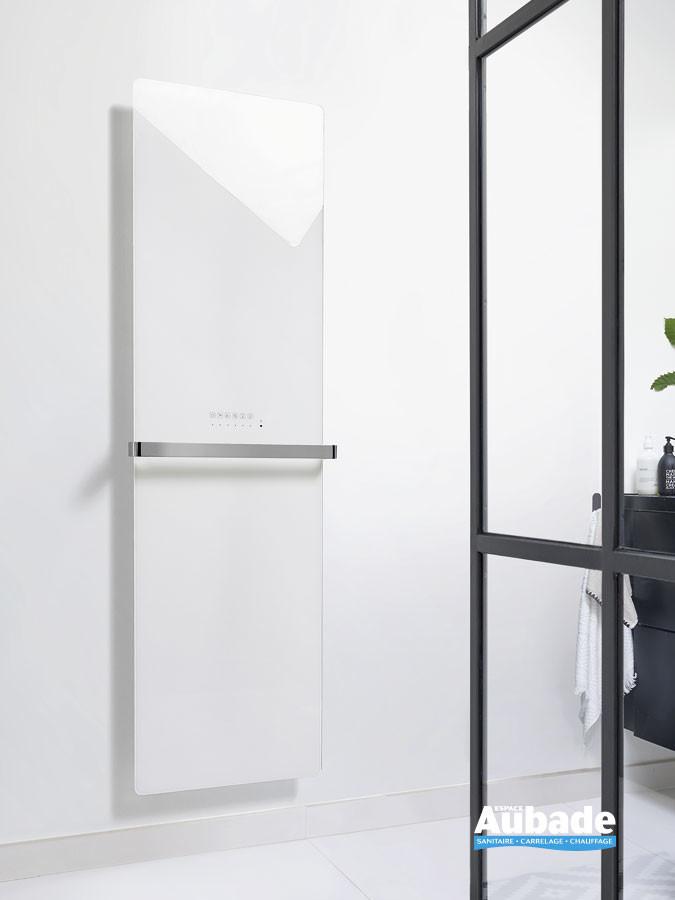Radiateur sèche-serviettes Claris électrique façade en verre coloris Blanc brillant par Acova