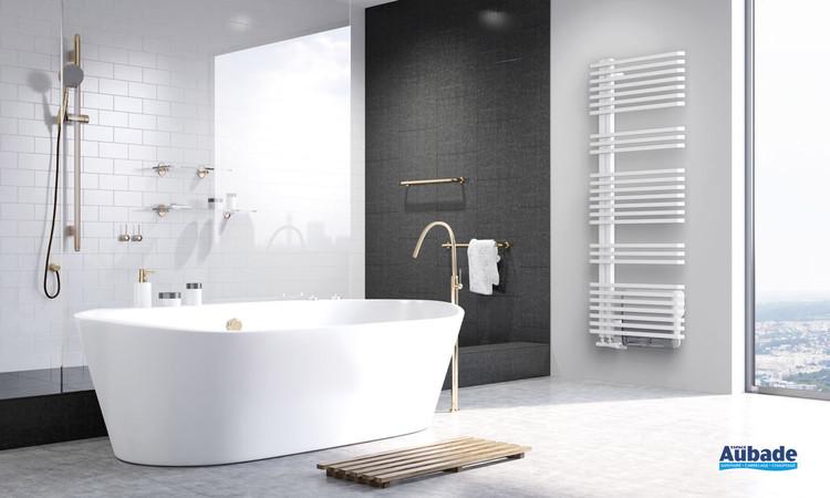Radiateur sèche-serviettes Kam eau chaude avec soufflerie coloris Blanc de la marque Irsap