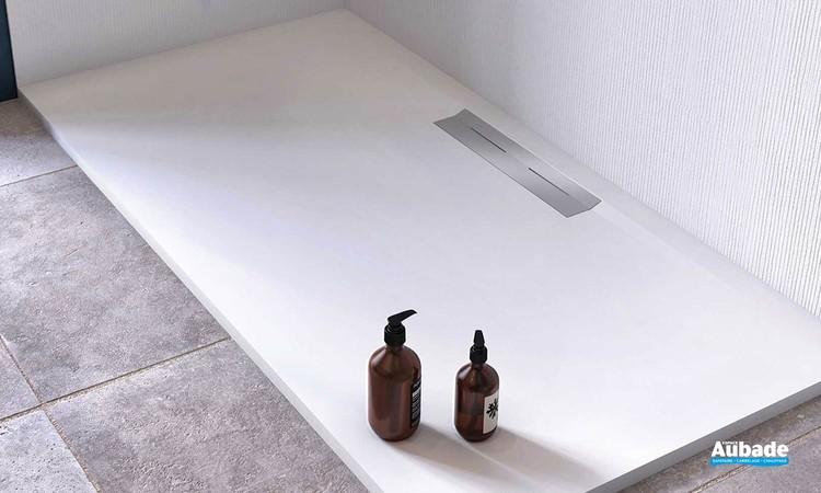 Receveur de douche avec évacuation latérale Oka par Ambiance Bain 1