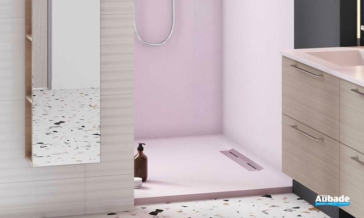 Receveur de douche avec évacuation latérale Oka par Ambiance Bain 5