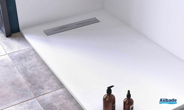 Receveur de douche avec évacuation latérale Oka par Ambiance Bain 7