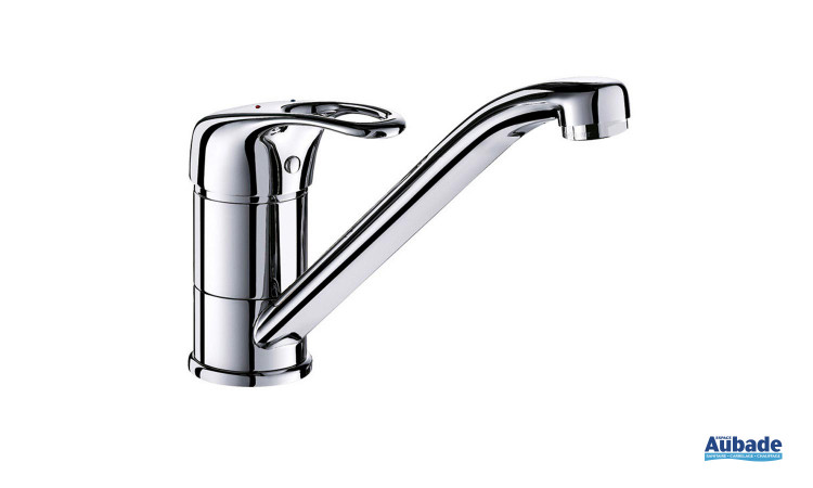 Mitigeur d'évier à bec orientable pour lavabo évier Delabie
