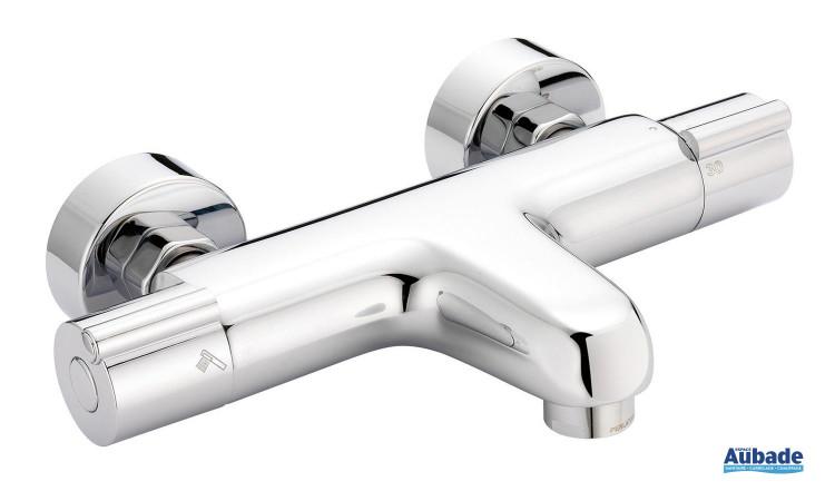 Mitigeur thermostatique bain / douche esthétique Rondo de Huber