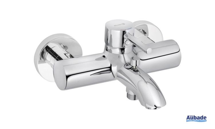 Mitigeur bain douche mécanique New Bozz coloris chromé par Kludi