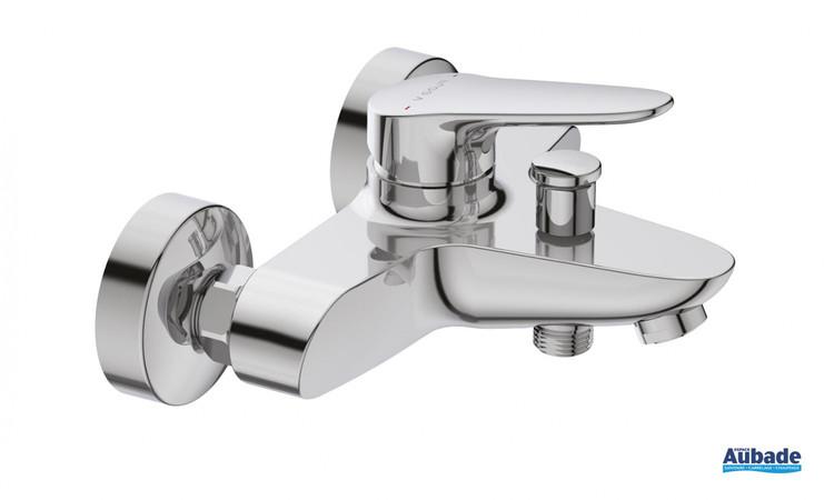 Mitigeur bain douche mural mécanique Clivia chromé par Vigour