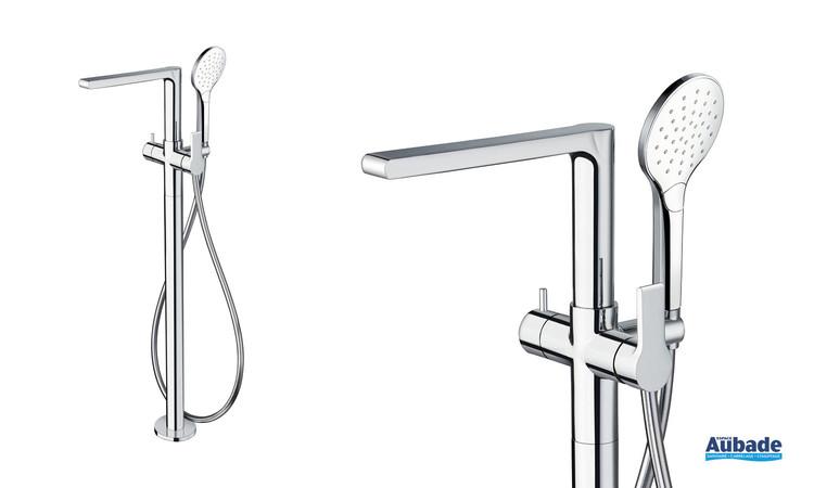 Mitigeur bain/douche sur pied chromé Delta de la marque Cristina