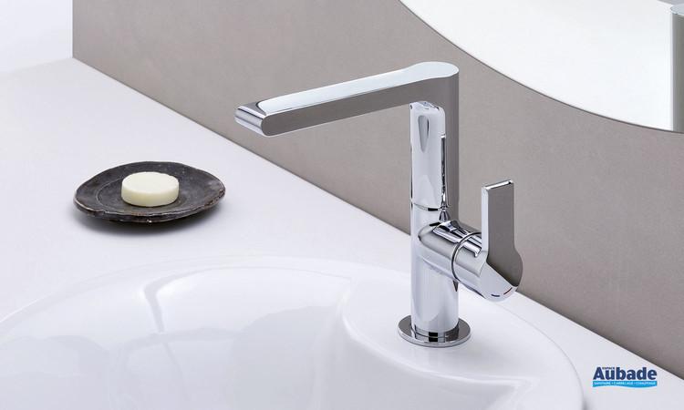 Robinet mitigeur lavabo haut Delta finition chromé par Cristina