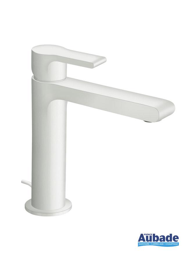 Robinet mitigeur lavabo large Delta coloris époxy blanc mat de Cristina