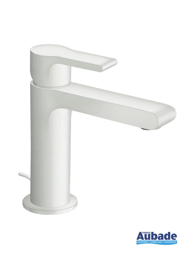 Mitigeur lave-mains et petit lavabo Delta coloris blanc mat de Cristina