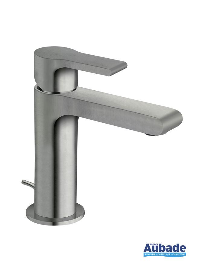 Mitigeur lave-mains et petit lavabo Delta coloris métal brossé de Cristina