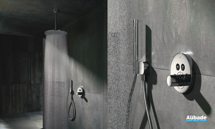 robinetterie douche axor solution encastree showerselect