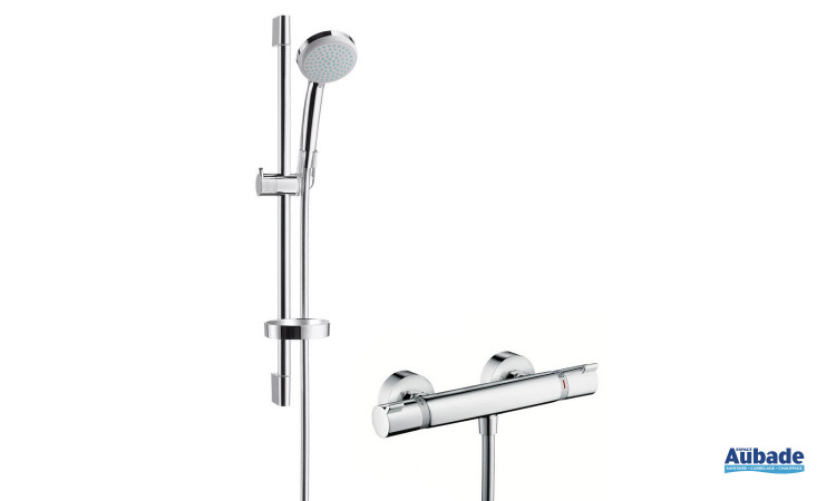 Douche complète avec barre, douchette, porte-savon Ecostat Comfort de Hansgrohe