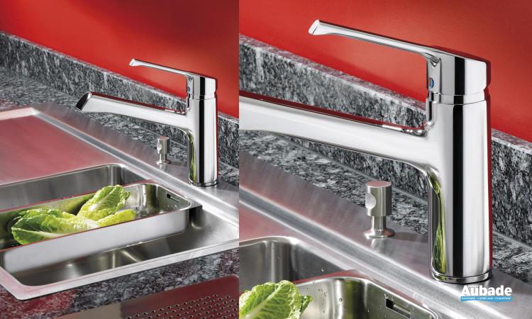 Mitigeur évier facile à installer avec bec fondu, chromé, hauteur 420 mm Retta Ideal Standard