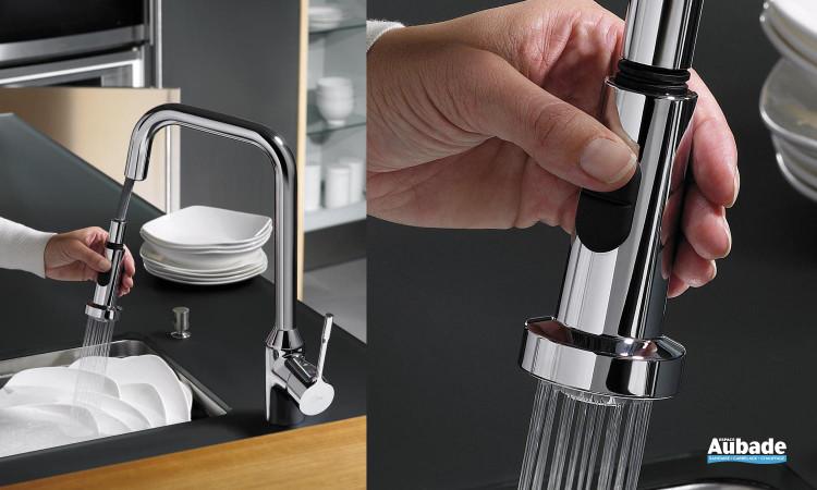 Mitigeur évier bec tube orientable, chromé, hauteur 420 mm Retta Ideal Standard