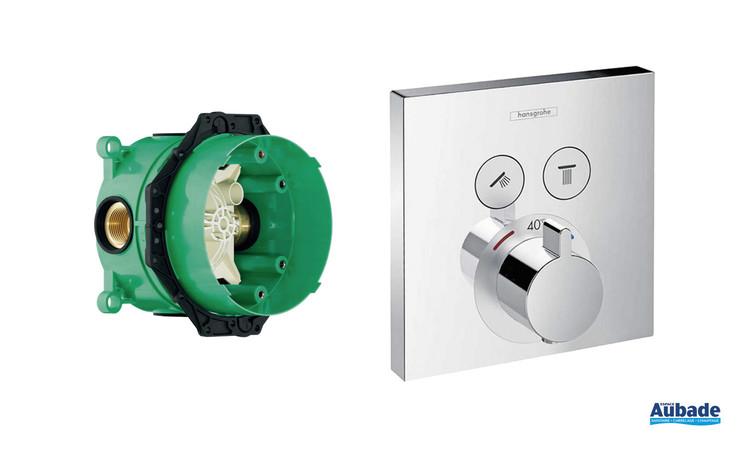 Façade thermostatique et i-box Select de Hansgrohe