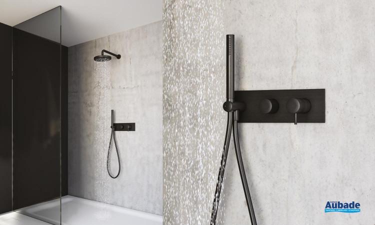 Ensemble douche encastrée Triverde Blackmat