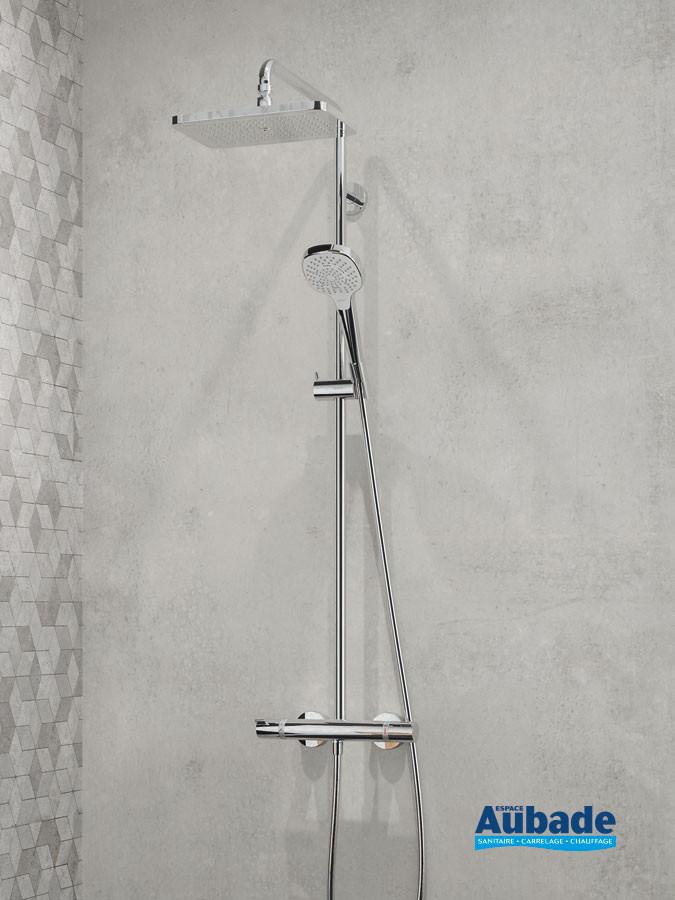 Colonne de douche Showerpipe 280 softcube de Hansgrohe avec douche de tête et douchette Croma E