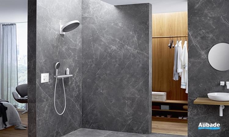 Solution encastrée blanc mat Rainfinity d'Hansgrohe