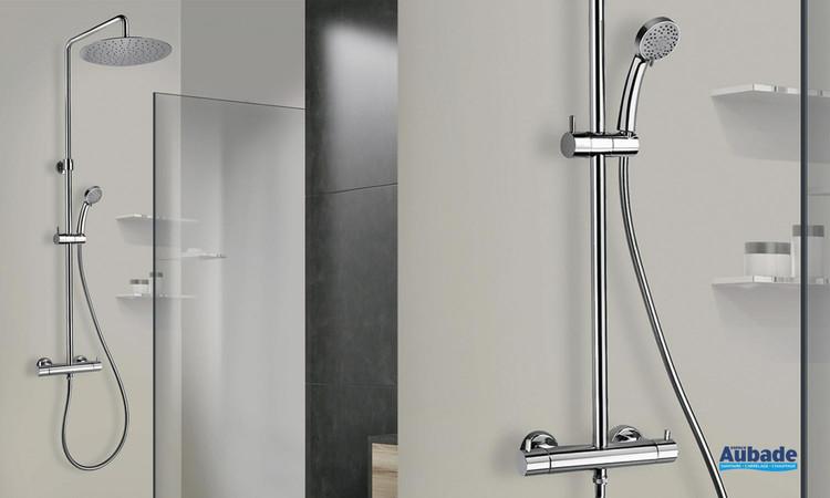 Colonne de douche thermostatique chromée Shower Line 250 par Paini Italie