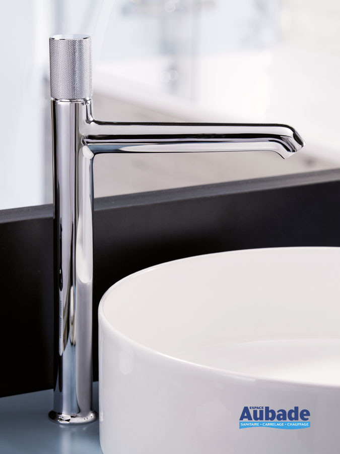 Mitigeur lavabo rehaussé Rivoli finition chromé de la marque Jacob Delafon