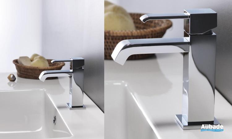 Mitigeur lavabo bec cascade design carré Quadri de Cristina