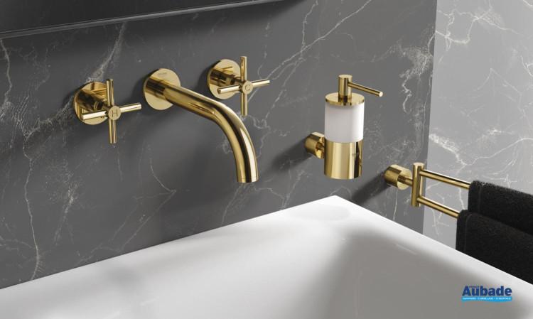 Mélangeur Croisillons lavabo mural 3 trous de Grohe